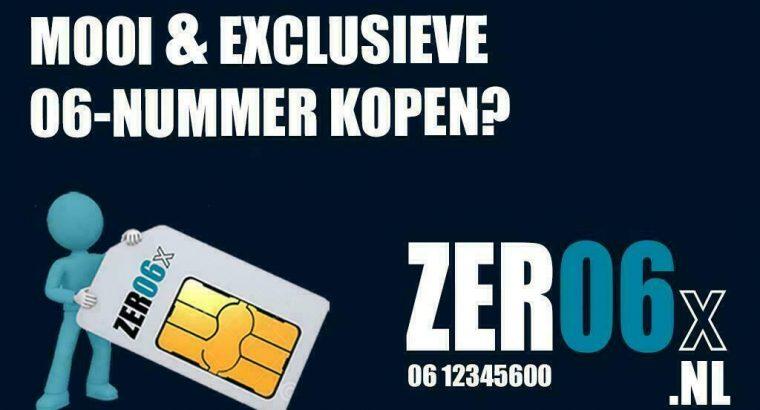 Kies uit ruim 300 mooie nummers op www.zer06x.nl