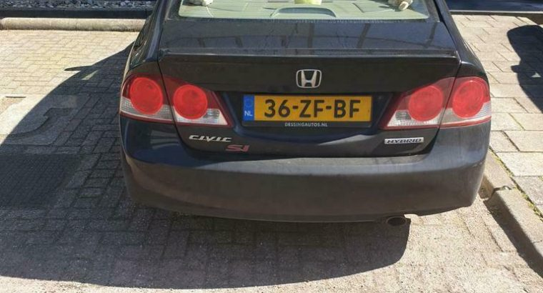 Honda Civic 1.3 Vtec Hybrid 4DR C-tr. 2008 Zwart