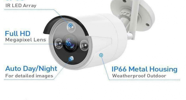 Wireless WiFi HD Beveiligingscamera set met 4 Cameras Outdoo