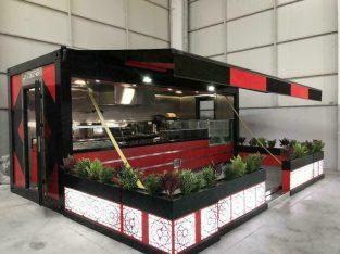 Foodtruck, Foodcontainer, containerkeuken, pop-up restaurant