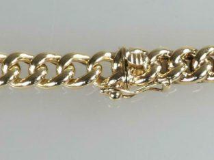 Antieke gouden schakel ketting