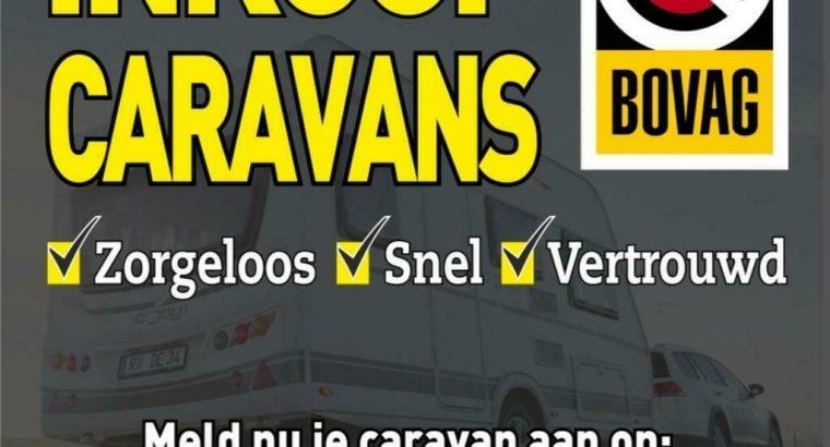 BOVAGBEDRIJF:Vertouwd uw CARAVAN VERKOPEN? INkoop Caravans