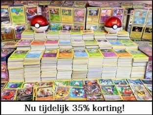 Pokemon Kaarten, setjes van 20-500 TIJDELIJK 35% KORTING