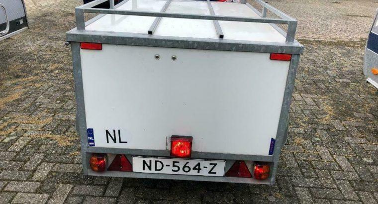 bagagewagen/aanhanger (Rieske) met Thule fietsdrager