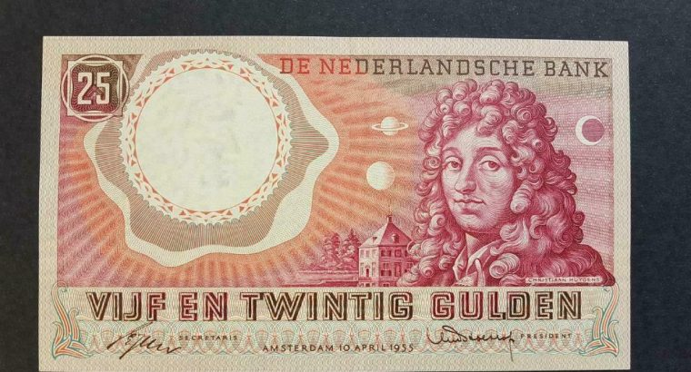 25 gulden 1955 super strak unc, top biljet