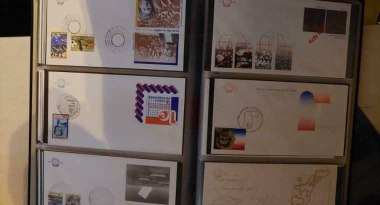(ca) FDC Album met 100 fdc + diversen zie scan