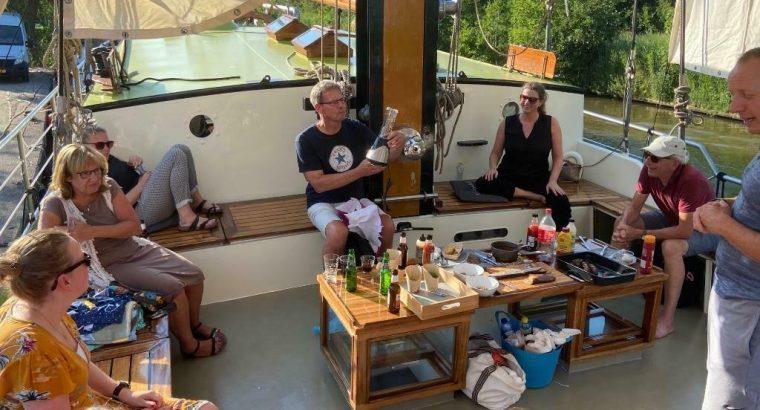 Meezeil weekend op de Waddenzee