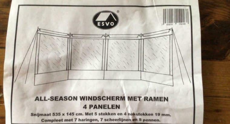 Nieuw windscherm Merk Esvo